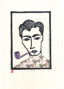 47cm x 32cm - Lino Cut & Collage